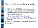 what the ci is and how it works