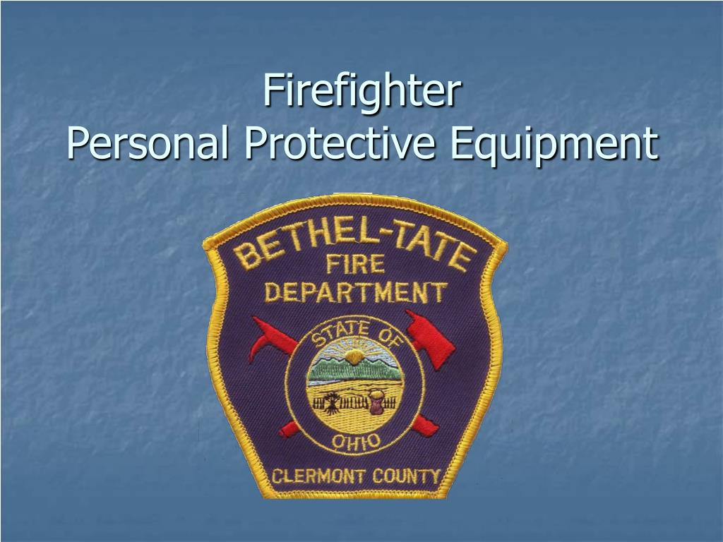 firefighter personal protective equipment l.