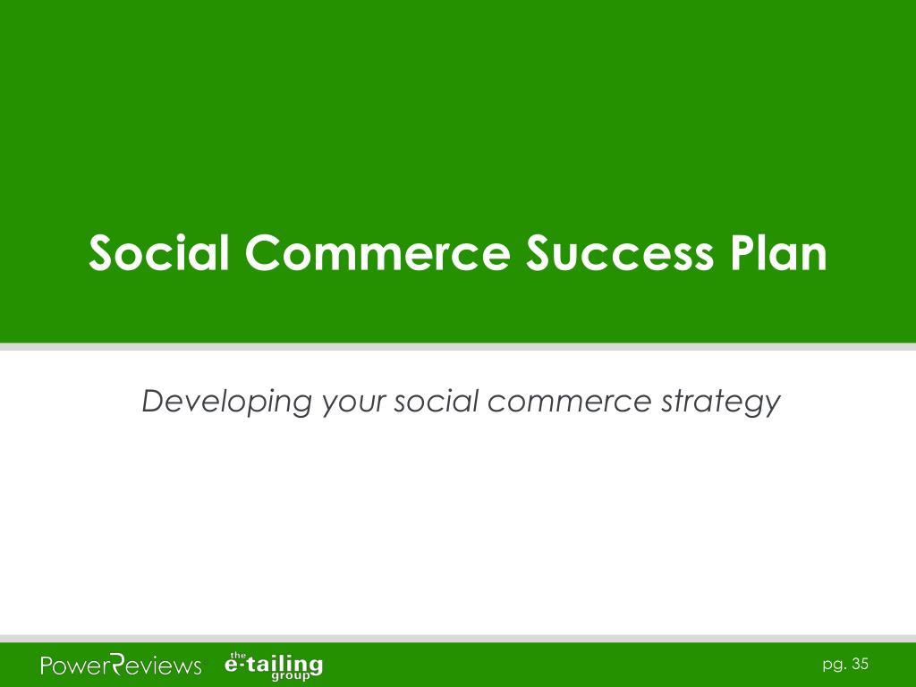 Social Commerce Success Plan