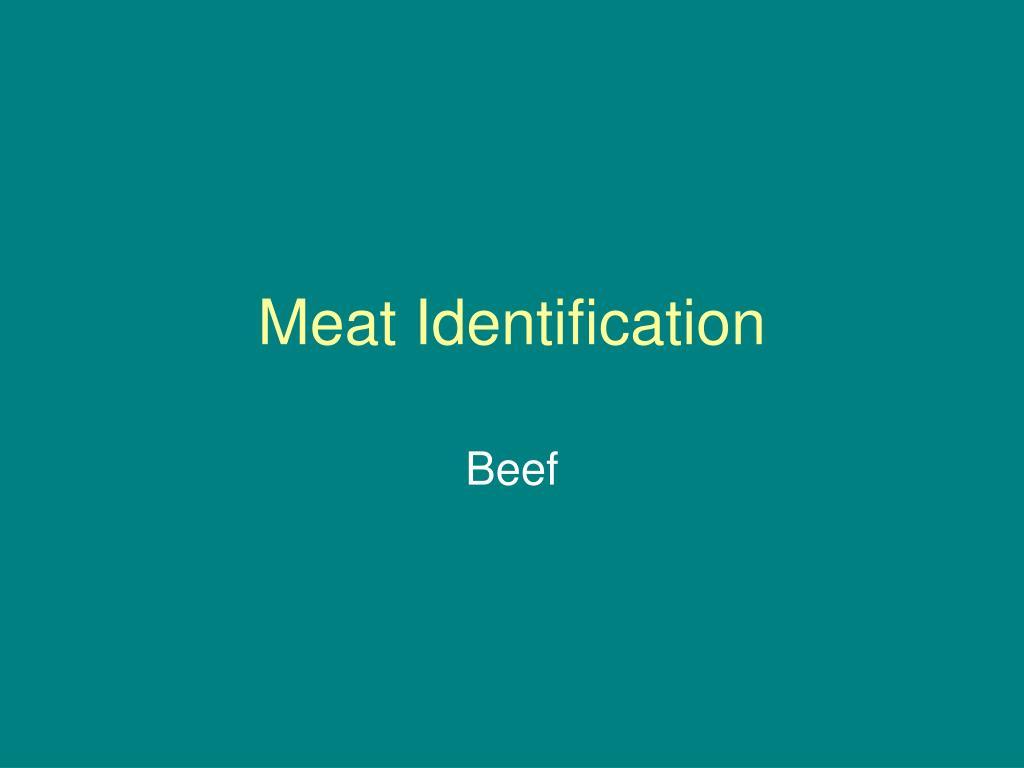 meat identification l.