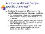 are their additional europe specific challenges