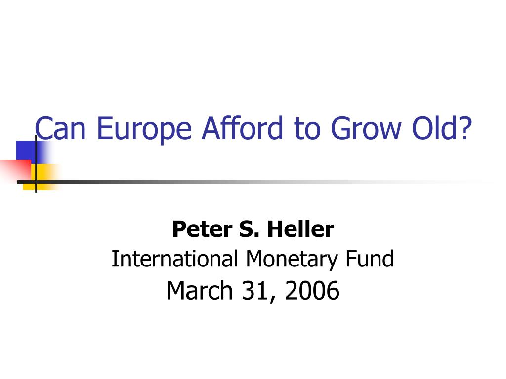 can europe afford to grow old l.