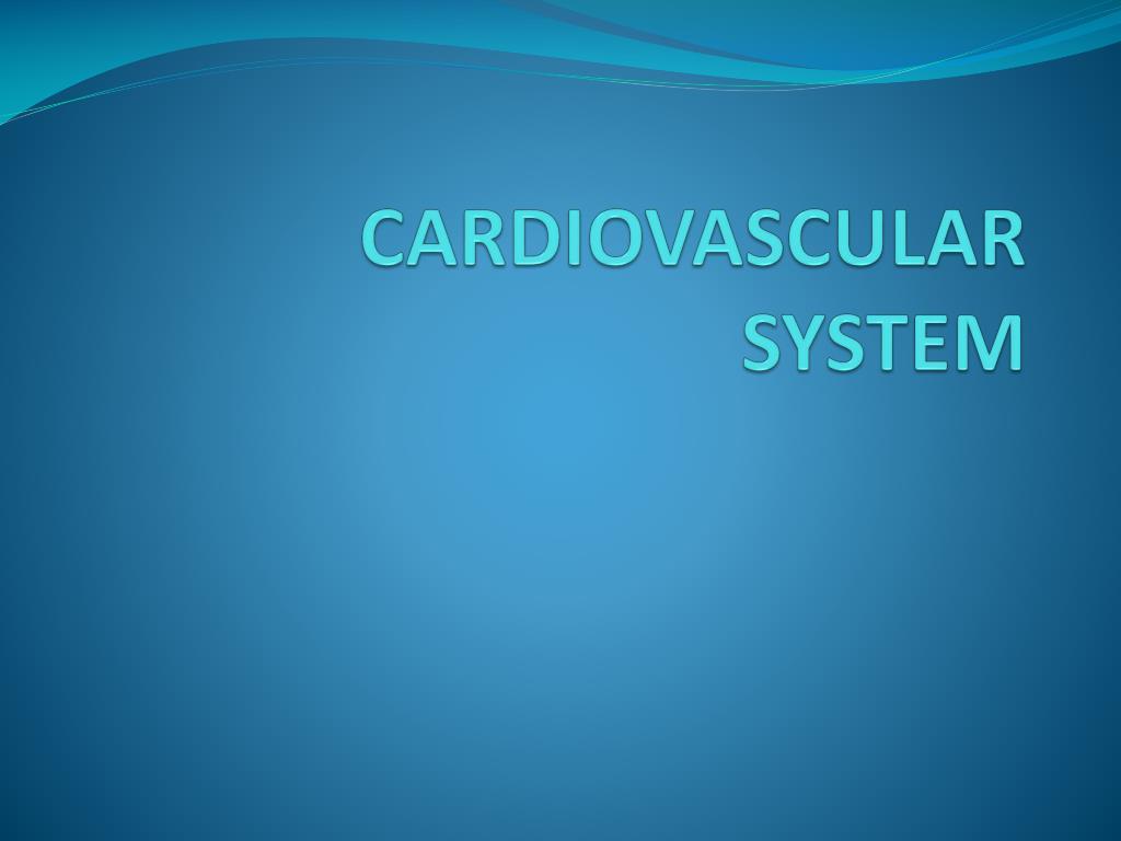 cardiovascular system l.