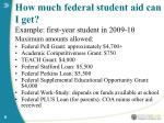 how much federal student aid can i get8