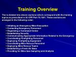 training overview7