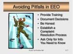 avoiding pitfalls in eeo