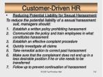 customer driven hr