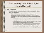 determining how much a job should be paid20