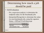 determining how much a job should be paid22