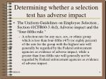 determining whether a selection test has adverse impact4