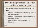 determining whether a selection test has adverse impact5