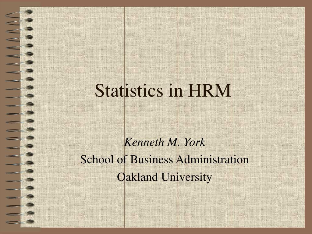 statistics in hrm l.