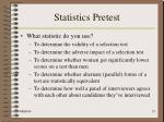 statistics pretest