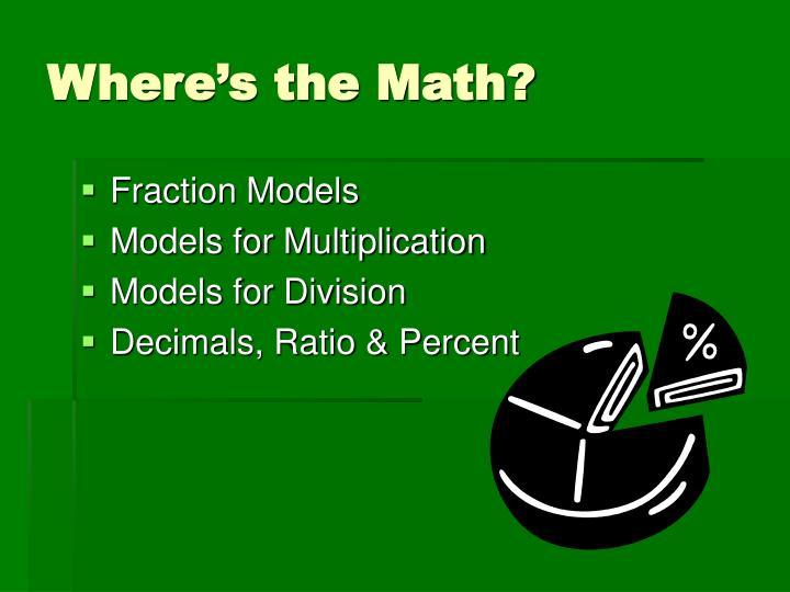 Where s the math3