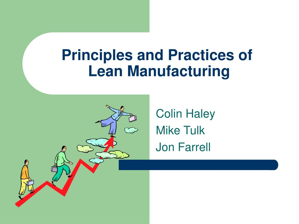 principles and practices of lean manufacturing l.