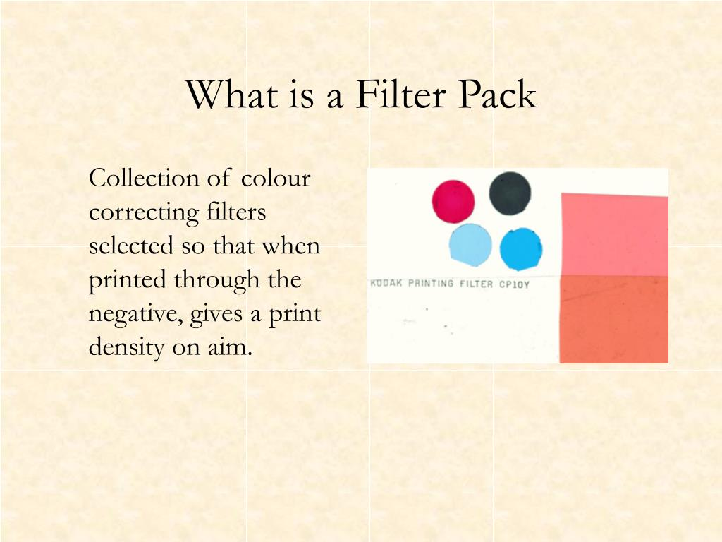What is a Filter Pack