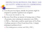 distinctions between the price and quantity approaches to addressing externalities28