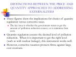 distinctions between the price and quantity approaches to addressing externalities33