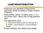 land redistribution