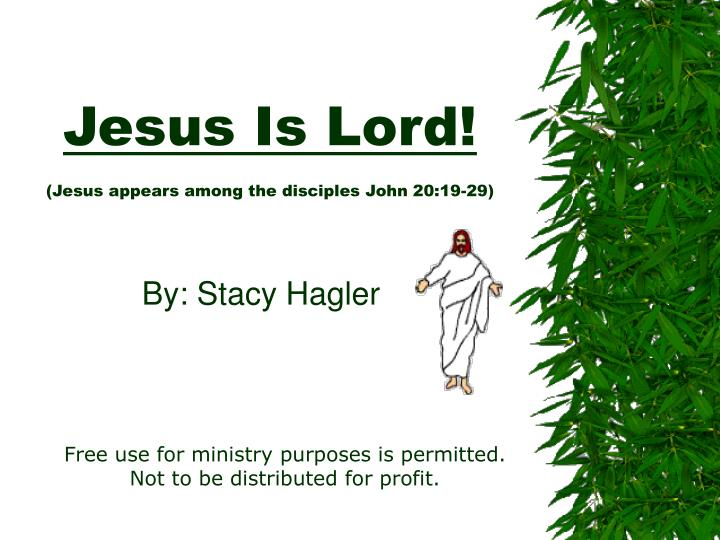 Jesus is lord jesus appears among the disciples john 20 19 29