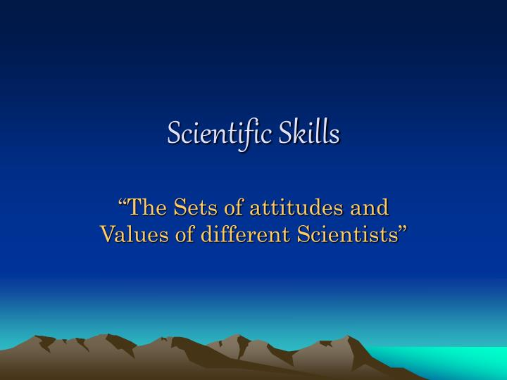 scientific skills n.