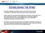 establishing the rfmo