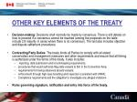 other key elements of the treaty