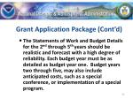 grant application package cont d42