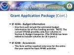 grant application package cont