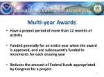multi year awards