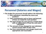 personnel salaries and wages