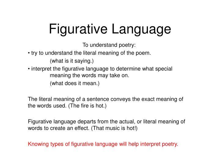 figurative language n.