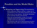 penalties and the model rules9