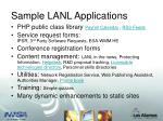 sample lanl applications