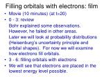 filling orbitals with electrons film