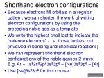 shorthand electron configurations8