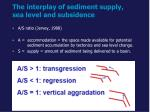 the interplay of sediment supply sea level and subsidence