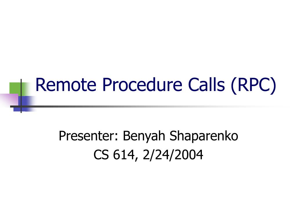 remote procedure calls rpc l.