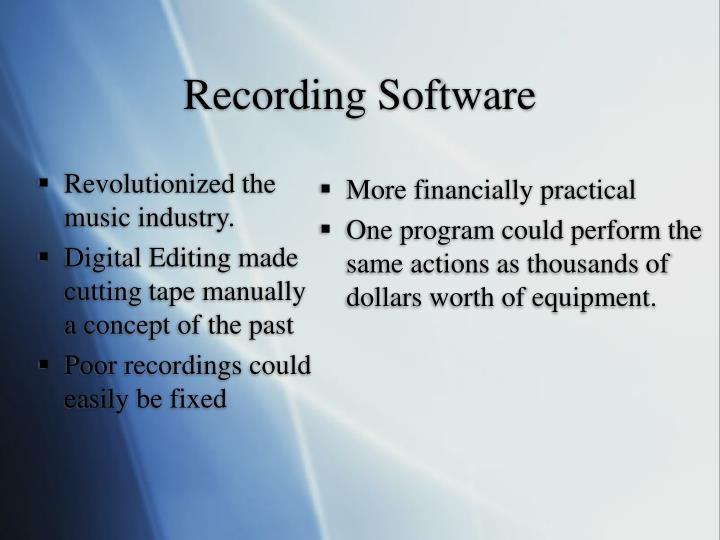 Revolutionized the music industry.