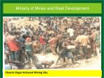 chaotic illegal artisanal mining site