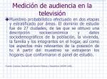 medici n de audiencia en la televisi n