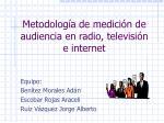 metodolog a de medici n de audiencia en radio televisi n e internet