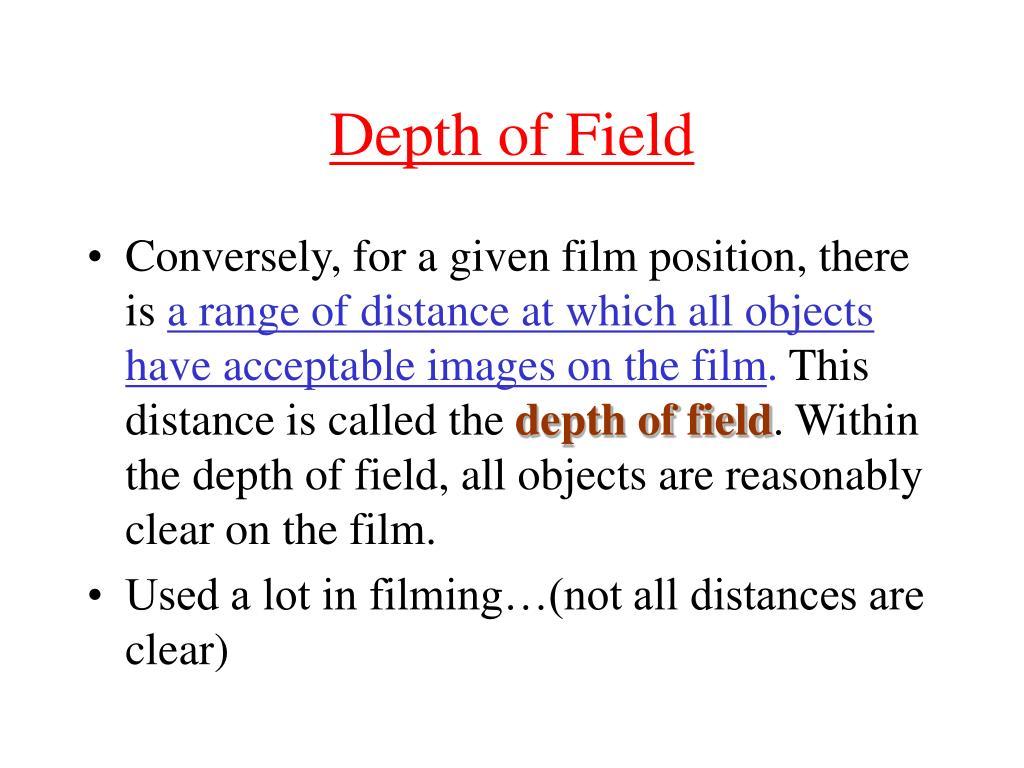 depth of field l.