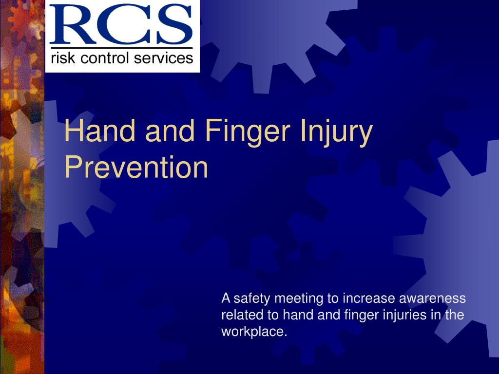hand and finger injury prevention l.