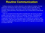 routine communication