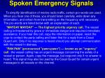spoken emergency signals