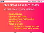 ensuring healthy links