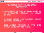 features that make qa i effective
