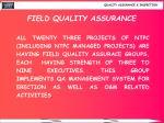 field quality assurance