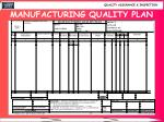 manufacturing quality plan